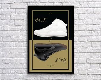 "Back to Back Series: Air Jordan 10 ""OVO"" Poster"