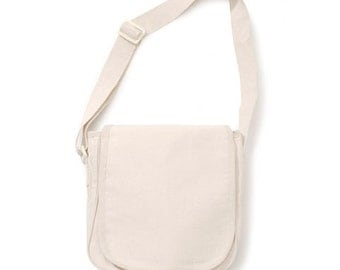 Natural Canvas Messenger Bag