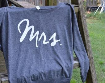 Mrs. Shirt | light grey, long sleeve dolman shirt