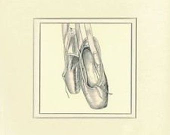 Ballerina Collection - Ballet Shoes (Pencil Drawing)