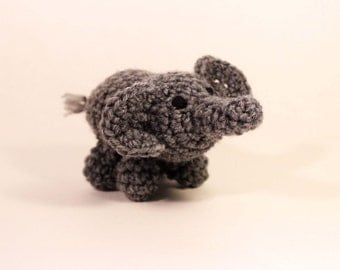 Amigurumi baby elephant stuffed animal rattle