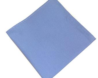 Blue Cotton Pocket Square.Mens Pocket Square.100% Cotton Handkerchief