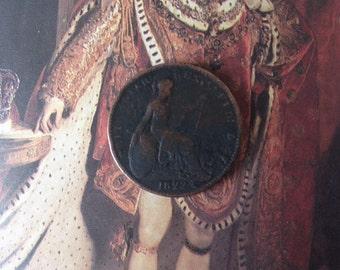 King George IV (IIII) copper farthing, 1822