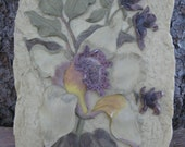 "Cheri Blum- ""Cymbidium,"" Raised Relief Polyresin Wall Plaque"