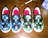 Custom made Minecraft Shoes!