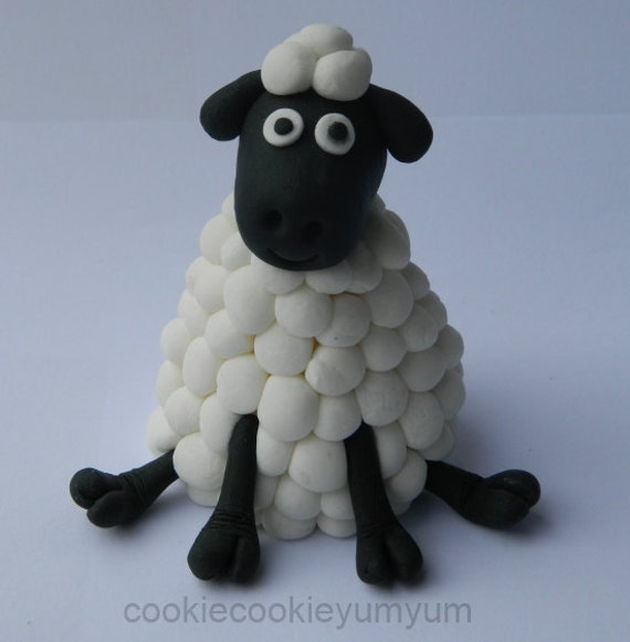 Edible Sheep Cake Toppers