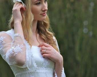 Boho / Hippy / Pagan / Woodland Wedding / Bridal Gown 'Clover'