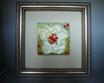 Framed Original Floral painting on canvas: No. 1