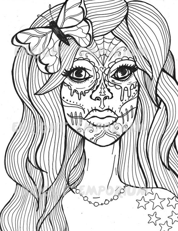 sugar candy skulls coloring pages - photo#30