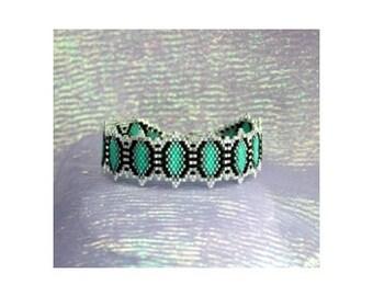 Tantalizing Turquoise Bracelet Beading Pattern