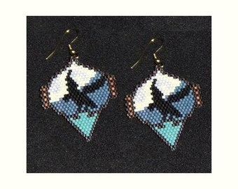 Night Flight - Eagle Earrings Pattern