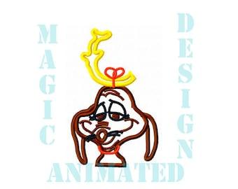 Max Dog Machine Applique Design in 2 sizes ---Instant download---