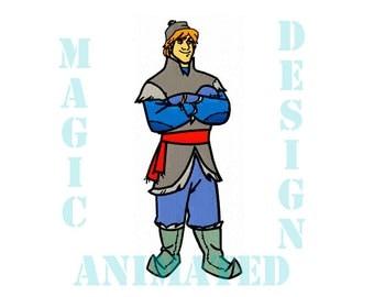 Kristoff Frozen Machine Embroidery Design in 4 sizes ---Instant download---