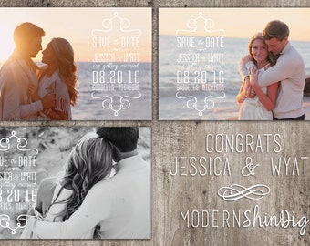 5x7 Custom Save the Date Prints!  Matte Finish-  Includes White envelopes FREE!