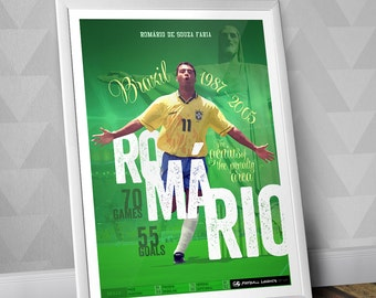 Romário - Brazilian National Team Print