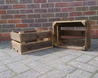Handmade wooden crates