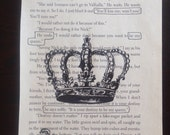 Be My Queen - Blackout Poetry, Word Art, Book, Novel, Book Art, Handmade Art, Drawing