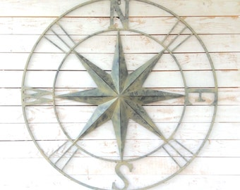 Iron Wall Compass, Nautical Wall Art, Home Decor, For The Home, Customize