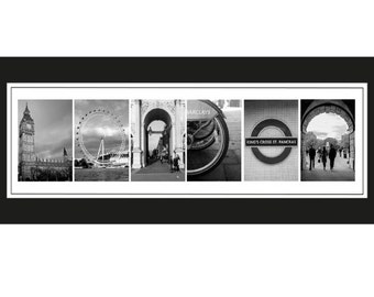 London postcard alphabet letter photography