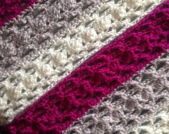 Crochet Cowl in Colour. Finished product