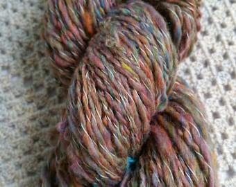 "Handspun spiral ply yarn. ""Helluva Helix"" 100g worsted weight"
