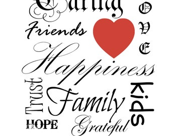 Happines printable pdf download for 8x10