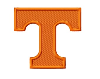 Tennessee T Solid Fill Embroidery Design 2x2 3x3 4x4 5x5 Vols INSTANT DOWNLOAD