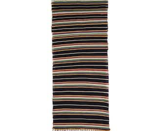 GOSERA Hand Woven Rug Freece Reversible Carpet multicolour 150x64cm