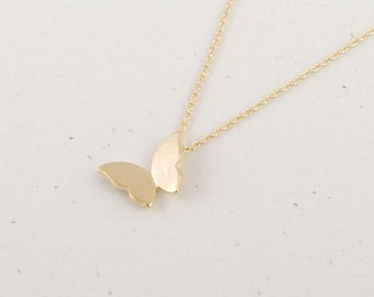 Gold Butterfly Necklace with butterfly