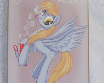 Derpy Hooves - My Little Pony - Brony Character - Just over A5 size -