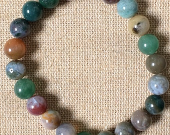 multi-colored earth beaded bracelet