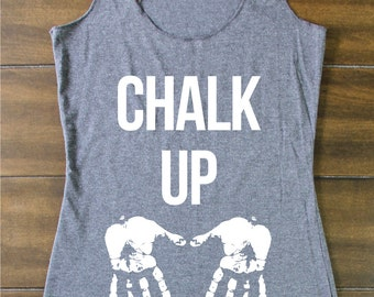 Fitted Tank - Chalk Up Tank - Crossfit Tank - Wod Tank - Crossfit - Crossfit Tank Tops - Workout Tank - Gym Tank - Workout Tanks For Women