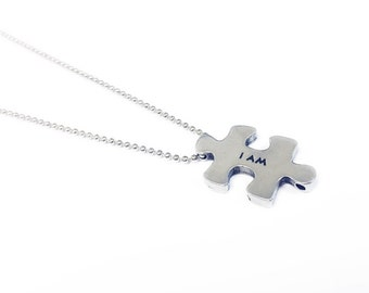 Affirmative Puzzle Token Ballchain Necklace