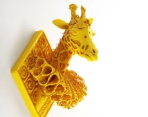 Girafe - Wall sculpture in 10 different colors -  HD 3D Printing