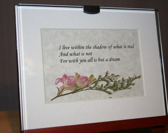 All is but a dream - Framed Verse