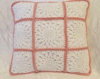 "12"" x 12"" Crochet Shabby Chic Pillow"