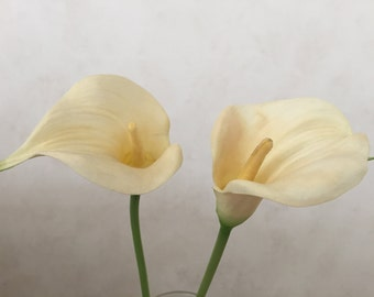 """Cream Calla Lily Flower, Faux, Artificial, Wedding Flowers - 23"""" Tall"""