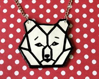 Geometric Bear Necklace