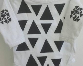 Triangle print onesies