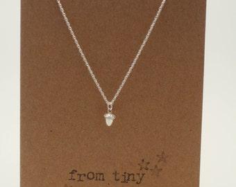 Silver From Tiny Acorns Mighty Oaks Do Grow Necklace
