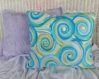 Fleece Swirl Design PIllow
