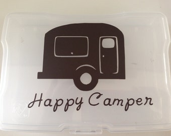 Happy Camper Retro Style Vinyl Decal