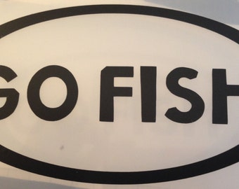 GO FISH Vinyl Decal