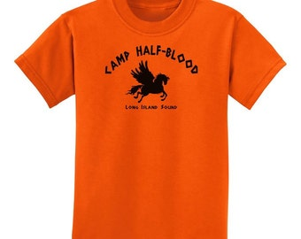 Childrens Camp Half Blood Child Tee - Youth Size Half-Blood T-Shirt TOLD-1026