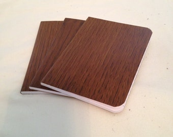 Pocket Notebooks, Wood Grain (Set of 3)