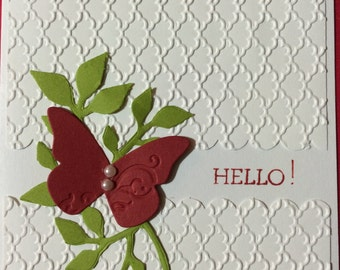 Hello! Butterfly Card