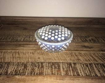 Hobnail Dish with Lid