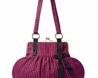 Tote bag pink and black vintage model/bag handmade