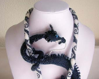 Dragon, Beaded necklace