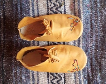 Beaded Buckskin Moccasins